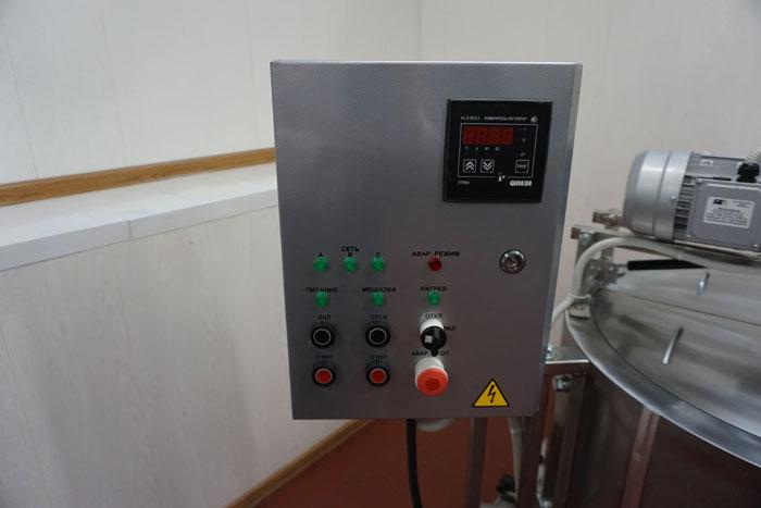 Ванна длительной пастеризации на 200 литров - блок управления