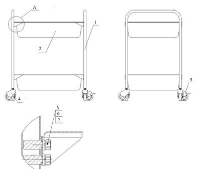 Тележка технологическая ИПКС-117-ТП2 (схема сборки) .